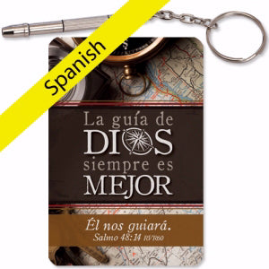 Spanish-Keyring-Mini Repair 4-In-1 Tool (Psalm 48:14)