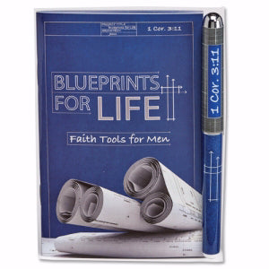 Gift Set-Blueprints For Life Devotion Book & Pen (1 Cor 3:11 ESV)