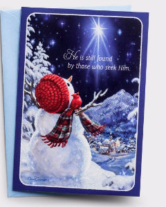 Card-Boxed-Snowman Gazer-Luke 1:78, 79 KJV (Box Of 18) (Pkg-18)