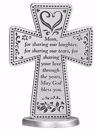 "Cross-A Blessing for Mom-On Stand (3"")"