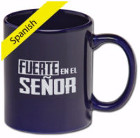 Spanish-Gift Set-Strong In The Lord Mug w/3 Golf Balls & Tee-Cellophane Wrapped