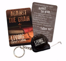 Tape Measure Key Chain-Against The Grain (Colossians 2:6 ESV)
