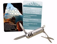 Spanish-Keyring-Multi Tool 5-In-1 Knife-The Lord Is My Rock (Psalm 18:2 RVR59)