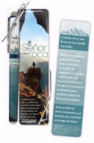 Spanish-Gift Set-The Lord Is My Rock Pen & Bookmark (Psalm 18:2 RVR59)