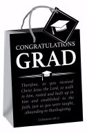 Gift Bag-Congratulations, Grad (Colossians 2:6-7 ESV)