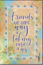 Plaque-Whispers Of The Heart-Friends Are God's (6 x 9)