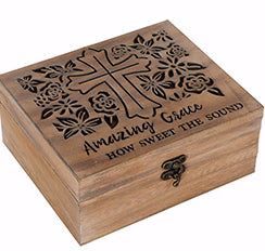 "Keepsake Box-Amazing Grace (3"" x 7"" x 6"") (Jan)"