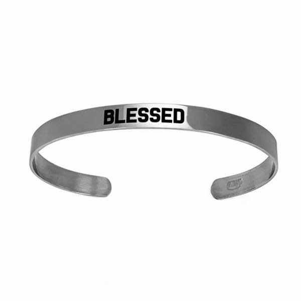 Bracelet Cuff-Stainless Steel-Blessed