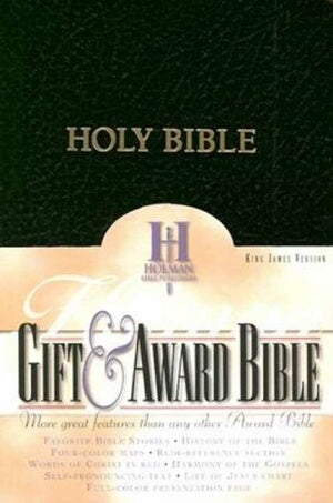 KJV Gift & Award Bible-Black Imit