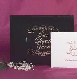 Guest Book-Our Church Guests-Large-Black