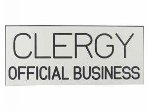 Sign-Clergy Official Business