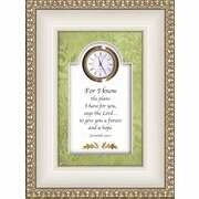 Clock-For I Know The Plans.. Jer 29:11 (6 x 8)