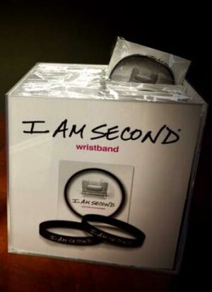 Display-Bracelet-I Am Second Wristband-Blk/Wht