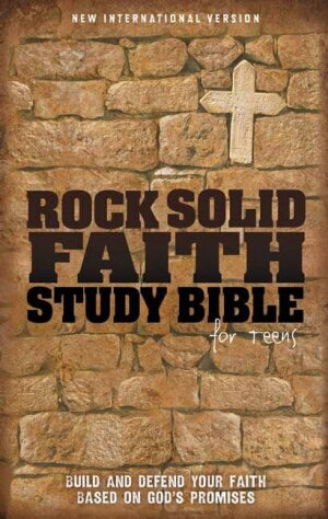NIV*Rock Solid Faith Study Bible/Teens-HC (Aug)