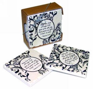 Coaster Set-God Of Hope/Be Strong-Shabby Chic