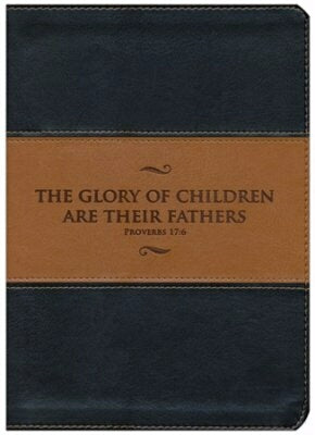 KJV Study Bible (Fathers Edition)-Blk/Tan Leather