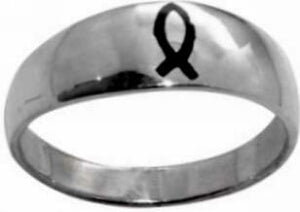 Enameled Ichthus-Stainless-Style 386-Sz  8 Ring