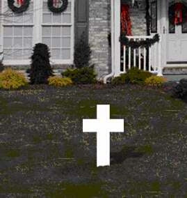 Cross with Stake Yard Sign
