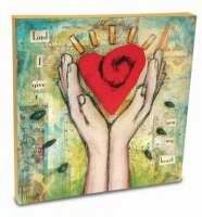"Wall Art-Give Heart-Canvas (10"" x 10"")"