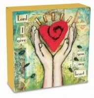 Desk Canvas-Give Heart (3.75 x 1.25)