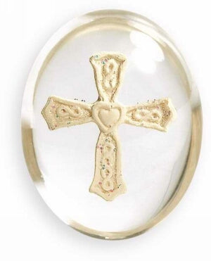 "Comfort Cross - Heart Cross Stone (1.5"")"