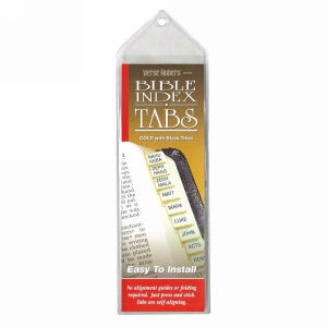 Bible Tab-Verse Finders-Horizontal-Thin Pack-Gold