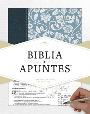 RVR 1960 Notetaking Bible-Blue Genuine Leathe-Spanish