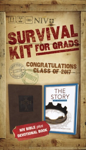 NIV 2017 Survival Kit For Grads (Brown - Boys Edition)