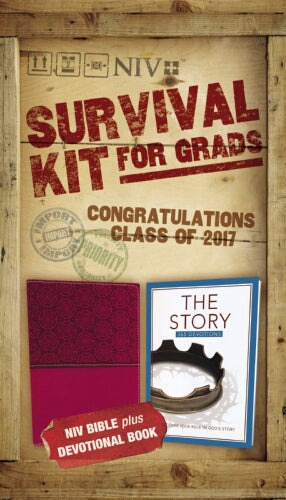 NIV 2017 Survival Kit For Grads (Burgundy - Girls Edition)