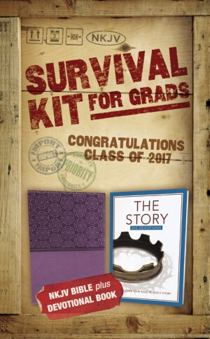 NKJV 2017 Survival Kit For Grads (Purple - Girls Edition)