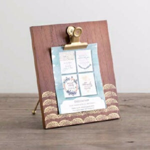 Clip Frame & Art Print Set-Oak Finish (6.5 x 7.5)