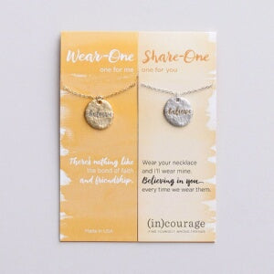 "Necklace Set-Wear One-Share One-Believe (18"")"