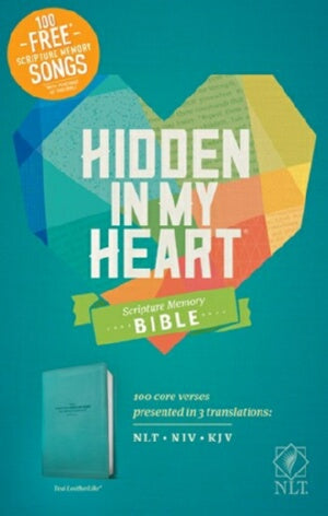 NLT2 Hidden In My Heart Scripture Memory Bible-Tea