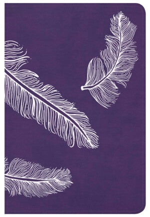CSB Compact Ultrathin Bible For Teens-Plum Feather