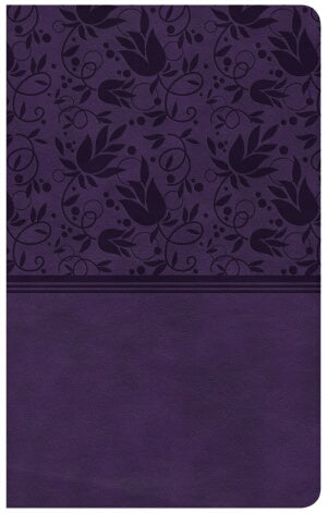 CSB Compact Ultrathin Reference Bible-Purple LeatherTouch Indexed