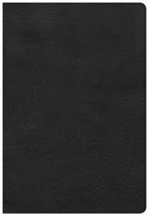 CSB Super Giant Print Reference Bible-Black LeatherTouch