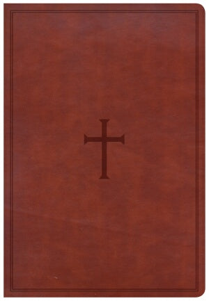 CSB Super Giant Print Reference Bible-Brown LeatherTouch