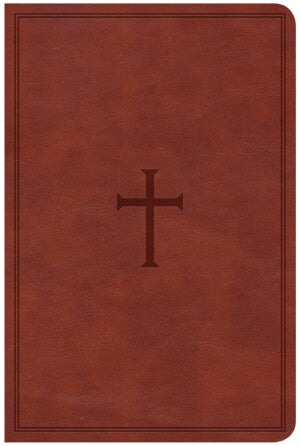 CSB Super Giant Print Reference Bible-Brown LeatherTouch Indexed