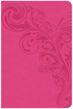 CSB Super Giant Print Reference Bible-Pink LeatherTouch Indexed