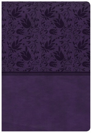 CSB Super Giant Print Reference Bible-Purple LeatherTouch Indexed