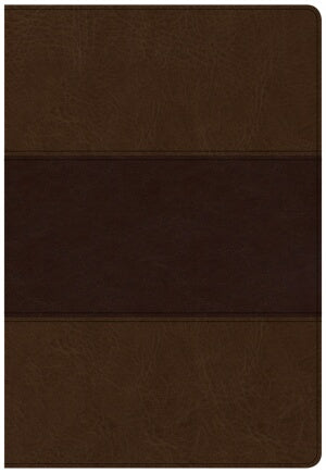 CSB Super Giant Print Reference Bible-Saddle Brown LeatherTouch Indexed