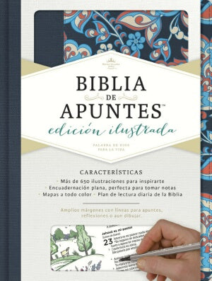 RVR 1960 Notetaking Bible-Pink And Blue Cloth-Spanish