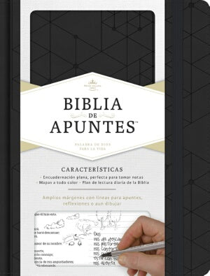 RVR 1960 Notetaking Bible-Black LeatherTouch-Spanish