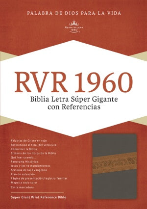 RVR 1960 Super Giant Print Reference Bible-Gr-Spanish