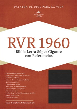 RVR 1960 Super Giant Print Reference Bible-Bl-Spanish