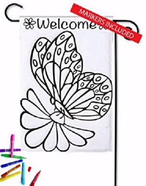 Flag-Garden-Color Me-Butterfly Welcome (Double App