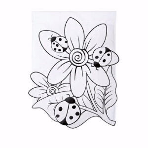 Flag-Garden-Color Me-Ladybugs (Double Appliqué)(12