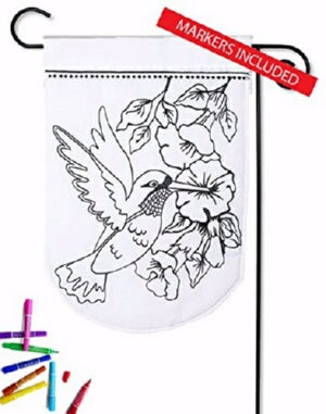 Flag-Garden-Color Me-Hummingbird (Double Appliqué)