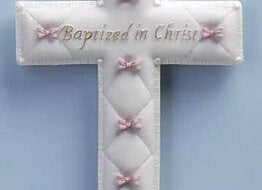 "Wall Cross-Baptism-Girl (6.5"")"