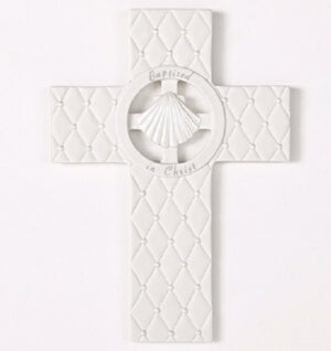 "Wall Cross-Baptism-Faithful Blessing (7.5"")"